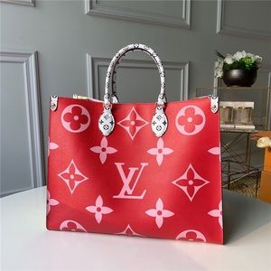 Louis Vuitton giant onthego red pink